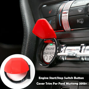 Engine Start Stop Button Center Console Switch Cover Trim For Ford Mustang 2015