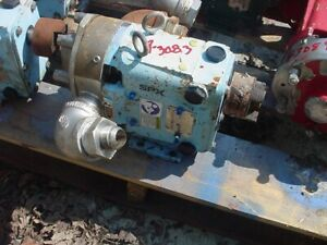 1 5 Inch Waukesha Stainless Steel Positive Displacement Pump Model 018 U1