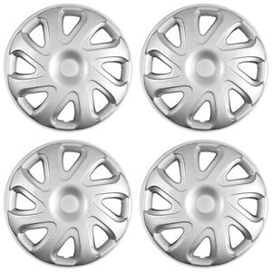 14 Push On Silver Wheel Cover Hubcaps For 2000 2002 Toyota Corolla