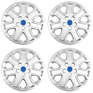 16 Push On Silver Wheel Cover Hubcaps For 2012 2014 Ford Focus