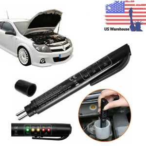 Brake Fluid Liquid Tester Pen Car Auto Oil Moisture Diagnostic Tool 5 Led Usa