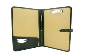 Leather Clipboard Conference Folder A4 Green Meeting Folder