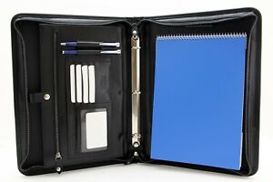 Noda Professional Leather Portfolio A4 Document Holder Leather 3 Ring Binder