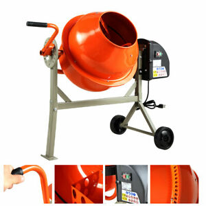 Portable Electric Vertical 2 1 5cuft Concrete Mortar Cement Stucco Mixer