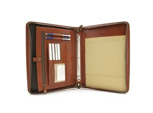 Noda Professional Leather Portfolio A4 Document Holder Business 3 Ring Binder