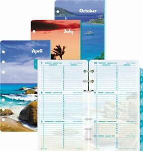 Coastlines 2 page per week Planner Refill Portable Size