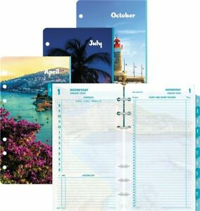 Coastlines 2 page per day Planner Refill Portable Size