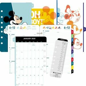Disney Mickey Mouse 2 page per week Planner Refill Desk Size