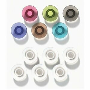 Quartet Quartet Glass Board Magnets Large 12 Pack Assorted Colors Dry erase