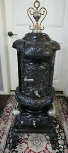1800 S Oakling Novelty Cast Iron Wood Burning Parlor Stove 46 H