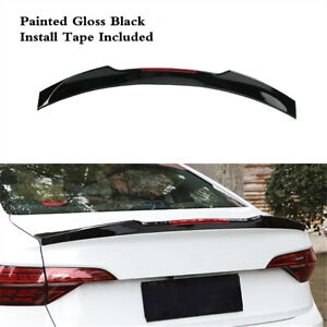 Fit For Vw Jetta Mk7 2019 2021 Rear Painted Black Spoiler Tail Wing Lip Abs
