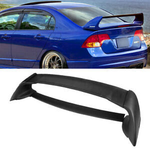 Abs Mugen Style Rear Trunk Spoiler Wing For 2006 2011 Honda Civic 4dr
