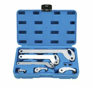 Adjustable Hook And Pin Wrench C Spanners Garage Hand Tool Set Kit 35 120mm New