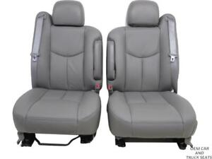 Gm Chevy Truck Suv Oem Front Seats With New Leather 2003 2004 2005 2006