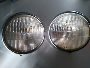 Pair Model A Ford Twolite Headlamps