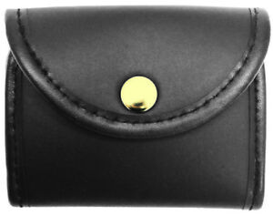 Plain Synthetic Leather Glove Holder gold Snap