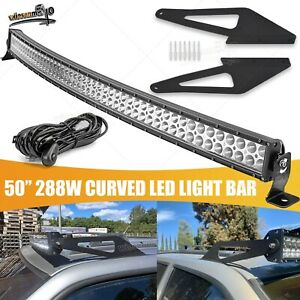 Fit 93 98 Jeep Grand Cherokee Zj Offroad Roof 50 Curved Led Light Bar Bracket