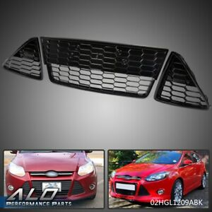 3pcs Honeycombed Front Bumper Lower Grille Grills For Ford Focus 2012 2013 201