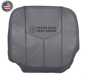 05 06 07 Chevy Silverado 3500 Work Truck Driver Bottom Leather Seat Cover Gray