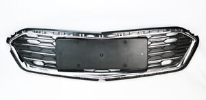 Honeycomb Mesh Chrome Front Bumper Lower Grille For Chevy Cruze 2016 2018