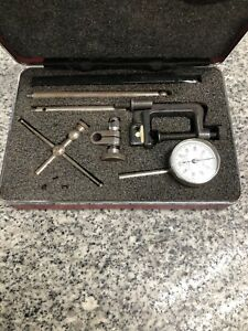 Starrett 196 Dial Indicator With Attachments A x
