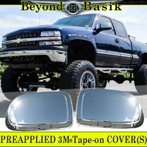 1999 2006 Chevy Silverado Gmc Sierra Triple Chrome Mirror Covers Overlays