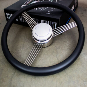 14 Black Stainless Steel String Banjo Steering Wheel With Horn Button Classic