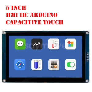 New 5 Inch Hmi I2c Lcd Display Module Capacitive Touch Screen For Arduino