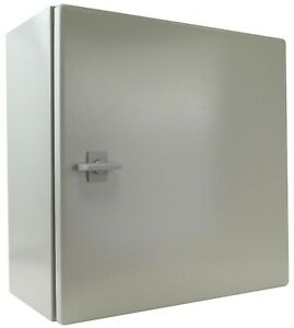 Yuco 16 16 8 Metal Type 4 Enclosure W B Pl Yc 16x16x8 ip65 With Back plate