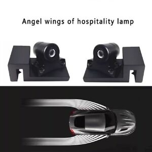 2pcs Motorcycle Welcome Lights Angel Wings Spotlight Car Led Door Projector Lamp