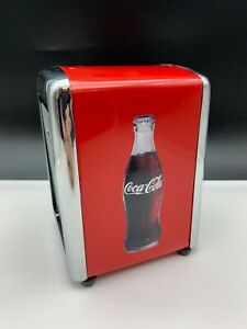 Coca Cola Napkin Dispenser 5 7/8in Never Used  Top Condition