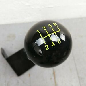 6 Speed Shifter Shift Knob Black Yellow 16mm X 1 50 For 93 02 Camaro Firebird Gm
