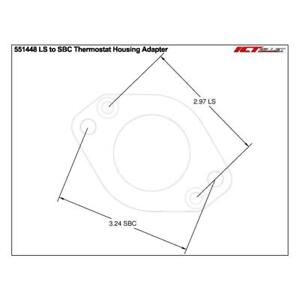 Ict Billet Thermostat Housing Adapter Plate 551448