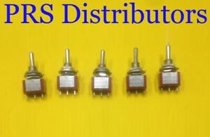 Mini Toggle Switch 3 Position On off on Spdt 5a 125v 5 Pieces