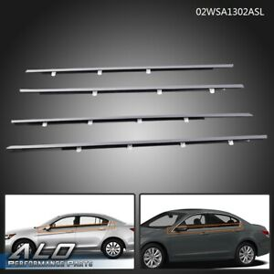 Chrome Window Moulding Weatherstrip Seal Belt Fit For Honda Accord 2008 2012
