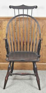 D R Dimes Windsor Chair Bow Back Chair Armchair W Comb Back Williamsburg Style