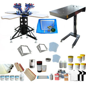 4 Color Screen Printing Press Kit Adjustable Screen Press Printer