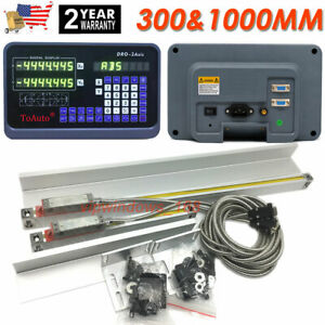 300 1000mm Linear Scale 2axis Encoder Digital Readout Dro Cnc Lathe Milling
