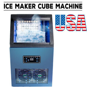 Commercial Ice Maker Cube Stainless Steel Automatic Freezer Machine 110lbs Usps