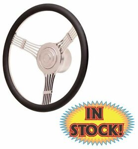 Gtp 21 4245 Gt 9 Retro Steering Wheel With Banjo Spoke Black Leather