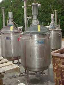 110 Gallon Stainless Steel Jacketed Tank With Mixer Xp