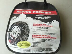 Alpine Premier Passenger Car Tire Snow Chains Fits 13 Thru 15 Tires See Chart
