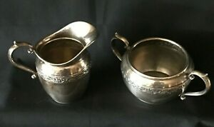 Du Barry By Durgin Sterling Silver Creamer And Sugar 2504