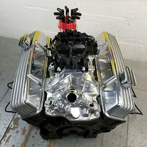 Chevy Sb Chrome Tall Finned Engine Valve Covers Breathers L48 V8 327 350 58 79