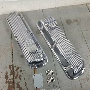 Ford Sbf 1965 85 Chrome Engine Valve Covers Pcv Breathers 260 289 302 351w 5 0l