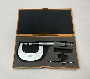 Mitutoyo Blade Micrometer No 122 135 0 1 0001 W wrench In Case