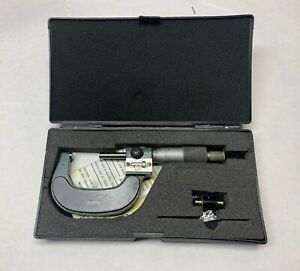 Fowler Digital Counter Outside Micrometer 1 2 0001 No 52 222 002 1 Nice