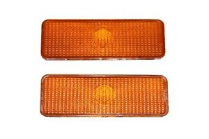2 Front Parking Turn Signal Light Lens Ford Truck Bronco F150 F250 F350 80 86