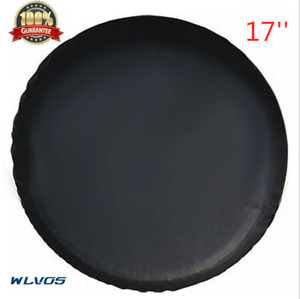 Spare Car Tire Cover Camper Wheel Care For Weather Protection 17inch Black