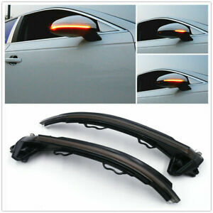 Led Dynamic Turn Signal Lights Side Mirror Indicator For Audi A4 S4 Rs4 A5 B9
